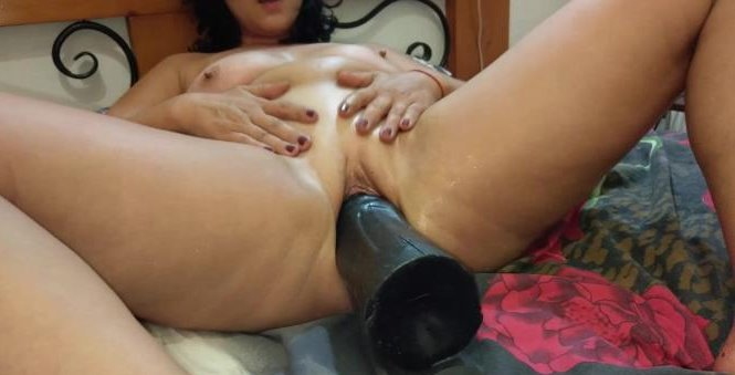 sarah's-new-giant-dildo